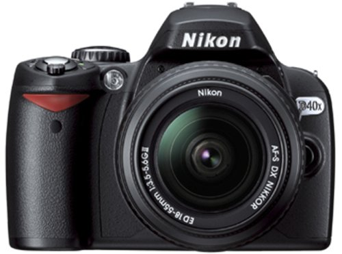 Nikon D40X Digital SLR Camera With 18-55mm Lens - Black (10.2MP)