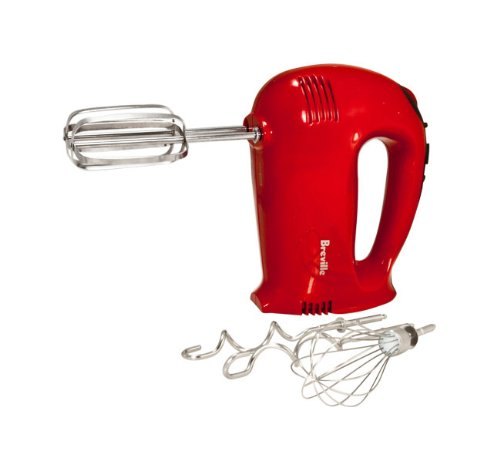 Breville Bhm500Rxl Handy Mix Digital Hand Mixer, Red front-13307