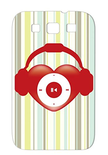Heart Beat Red Music Design Pop Sound Heart Miscellaneous Headphones Icon Music For Sumsang Galaxy S3 Protective Hard Case