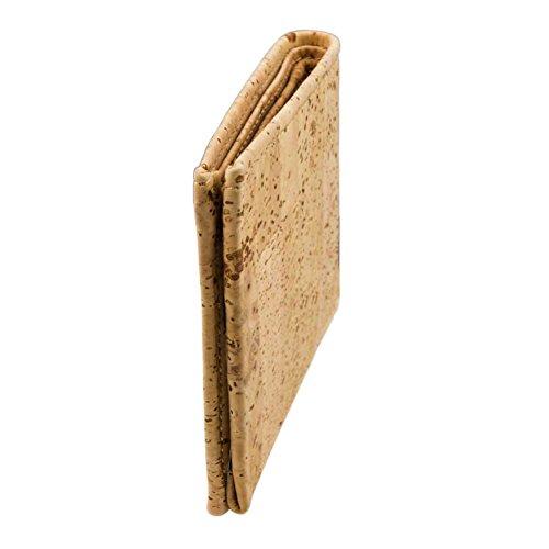 Corkor Portafoglio Per Uomo Sughero Formato Orizzontale Ecologico E Vegan Marrone Chiaro