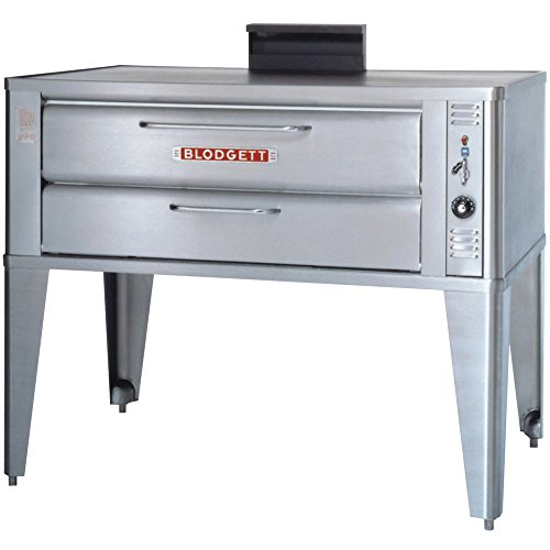 Small Gas Deck Oven For Baking & Roasting - One Base Section With 27-1/2 Inch Black Adjustable Legs, Stainless Steel Draft Diverter Or Draft Hood, And Small Crown Angle Trim -- 1 Each.