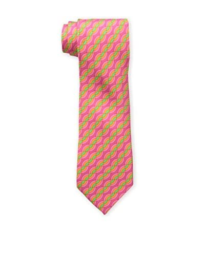 Hermès Men's Pre-Owned Patterned Silk Tie, Pink
