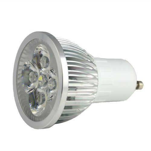 Thg Dimmable 6W Gu10 Alluminum Cool White 6000K Led Bulb 500Lm High Power 40W Halogen Equivalent Lamp Light Lighting (Pack Of 10)