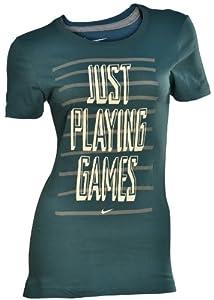 "NIKE Women's ""Just Playing Games"" Casual T-shirt-Green/Gray"