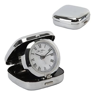 Widdop and Bingham - Metal Fold Up Alarm Clock - White Dial from WiddopandBingham