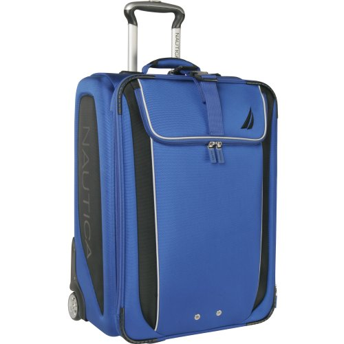 Nautica Luggage Fleet 28 Inches Rolling Upright, Alpine Blue/Black, One Size best buy