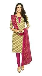 Shree Ganesh Clothing Women Cotton Salwar Suit Dress Material (Sgs- 223 _Green _Free Size)