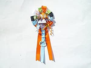 Corsage Themed for Mother Extra Large Baby Shower Corsage (Orange