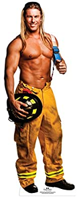Chippendale Kevin Cornell - Fireman Lifesize Standup Cardboard Cutouts 25 x 75in