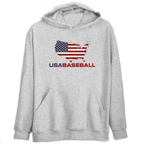 Usa Baseball / Map Mens Hoodie