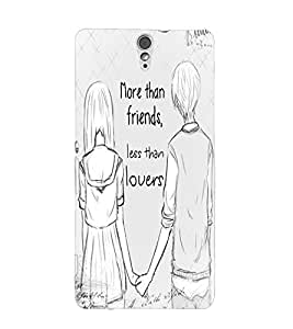 Fuson Best Friends Back Case Cover for SONY XPERIA C5 ULTRA - D4071