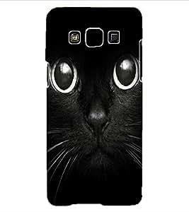 ColourCraft Cute Cat Design Back Case Cover for SAMSUNG GALAXY A3