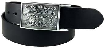 Levi's Men's Bridle Leather Belt, Black, 28