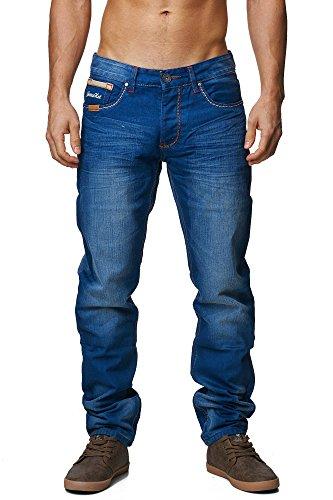 megastyl-herren-hose-light-washed-jeans-indigo-blau-slim-fit-5-pocket-baumwolle-hosen36-32