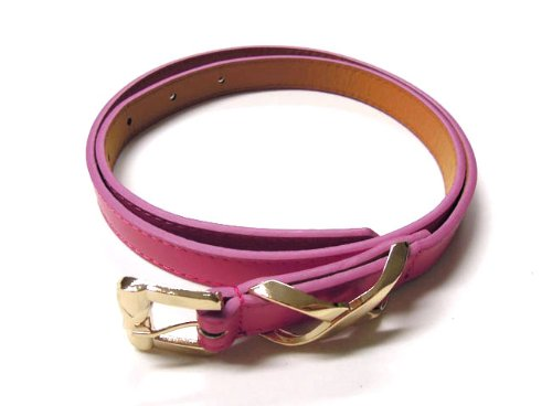 Women's square buckle waist Belt candy color