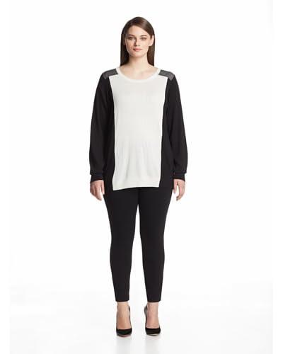 Calvin Klein Plus Women's Colorblock Pullover Sweater