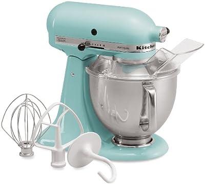 KitchenAid KSM150PSAQ Stand Mixer, Martha Stewart Blue Collection Artisan 5 Qt. Aqua Sky from Kitchenaid