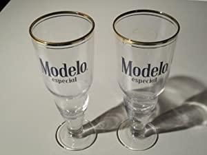 Amazon.com | Modelo Especial Inverted Bottle Prestige Glass | Set of 2