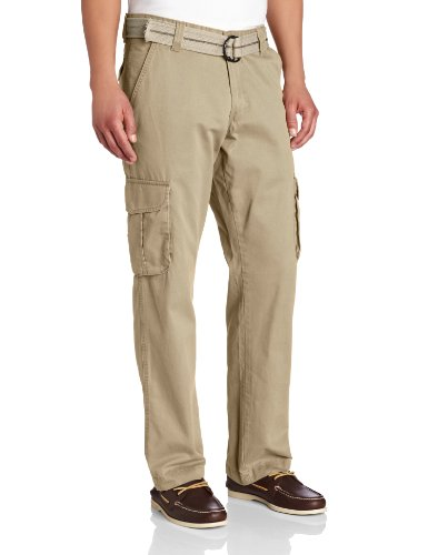 Lee Men's Relaxed Fit Utility Belted Cargo Pants, Beachwood, 40W x 30L