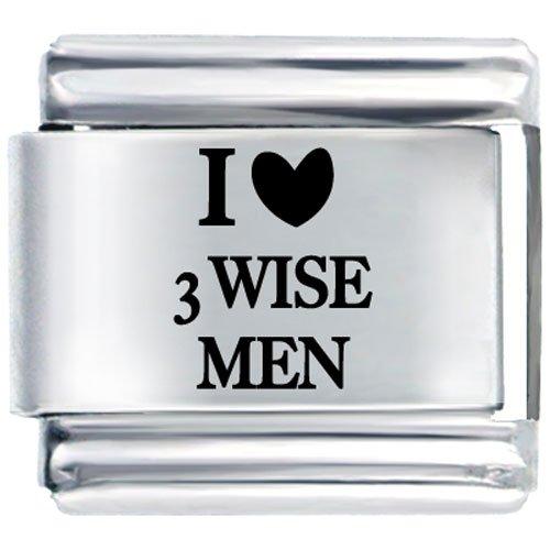 I Heart 3 Wise Men Summer Fashion Jewelry Italian Charm Bracelet