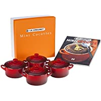 4-Pack Le Creuset Mini Cocottes with Cookbook