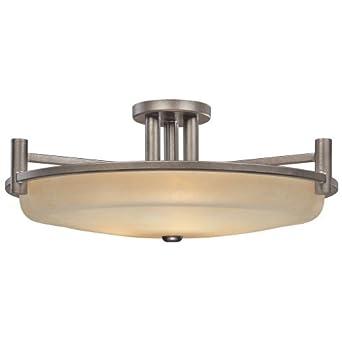Three-Light Semi-Flush Ceiling Light