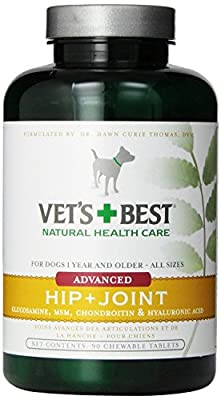 Vet's Best Advanced Hip and Joint 90 Tablets New Free Shipping