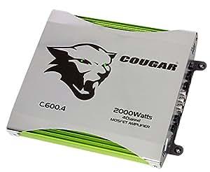 Cougar C600-4 Caisson de basses Vert, Argent