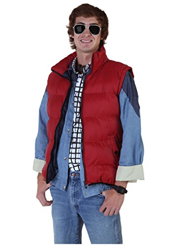 Fun Costumes Back to the Future Marty McFly Vest with blue lining - Standard