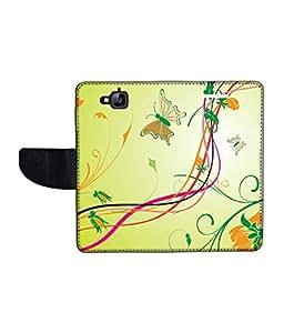 KolorEdge Printed Flip Cover For Huawei Enjoy 5 Multicolor - (1478-50KeMLogo12163HuaweiEjy5)