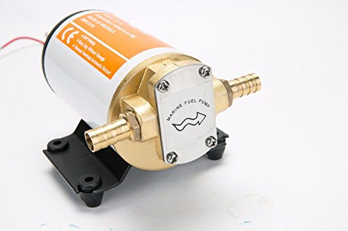Amarine-made 12v Scavenge Impellor Pump- For Water Diesel Fuel Scavenge Oil Transfer - White Shell (12v Oil Transfer Pump compare prices)