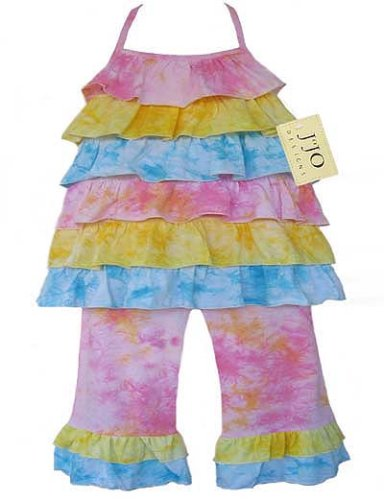 JoJo Designs 2 Piece Tie Dye Halter Girl's Outfit, 18 to 24 Months