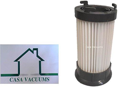 Eureka DCF-4 DCF-18 Washable & Reusable Long-Life Vacuum Filter; Replaces Eureka GE DCF1 DCF4 DCF18 Part # 62132 63073 61770 3690 18505 28608-1 28608B-1, by Casa Vacuums (Eureka Power Plus Filter compare prices)