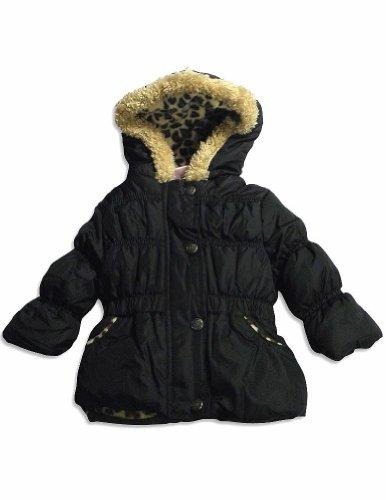 Pink Platinum - Baby Girls Puffer Hooded Winter Jacket, Black, Tan 28258-12Months front-691890