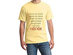 Teeforme Hold The Door T-shirt Yellow