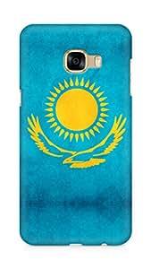 Amez designer printed 3d premium high quality back case cover for Samsung Galaxy C5 (Kazakhstan flag freedom)
