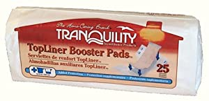Tranquility TopLiner Pads Light-Absorbency, 200/Case from Tranquility