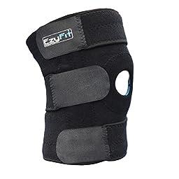 EzyFit Adjustable Neoprene Knee Brace Support with Open Patella, Large