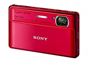 Sony Cyber-Shot DSC-TX100V 16.2 MP Exmor R CMOS Digital Still Camera with 3.5-inch OLED Touchscreen, 3D Sweep Panorama, and Full HD 1080/60p Video (Red)