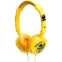 iDance Jockey 100 On-Ear Headphone with Mic (Yellow)
