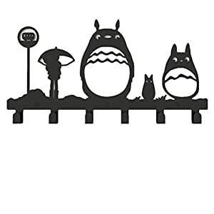 Metal cute totoro wall mounted coat rack 6 hooks amazon Cute coat hooks