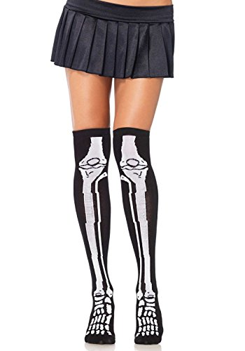 Women's Acrylic Over the Knee Skeleton Socks