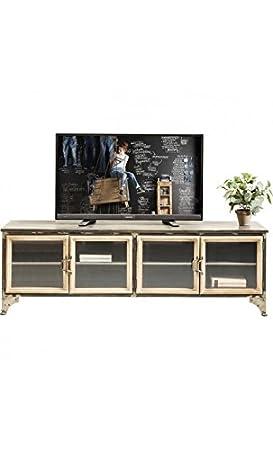 Kare design - Meuble TV en bois et fer 4 portes KONTOR
