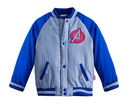 Disney Store Avengers Varsity Jacket Boys XXS 3 3T Iron Man Captain America