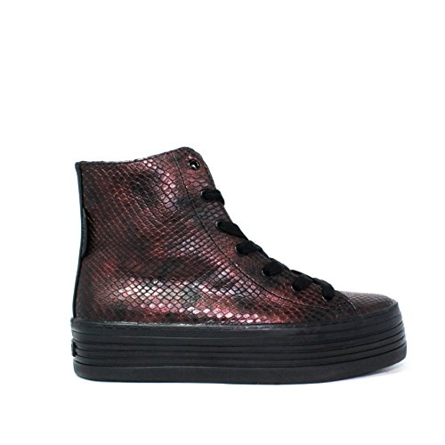 Calvin Klein Jeans gymnase wedge chaussures MEDIA COLLE HAUTE SNEAKERS LACE RE9346 / RBY ZURI AUTOMNE HIVER 2015 au 2016 MADE IN ITALY NOUVELLE COLLECTION 15/16 AW