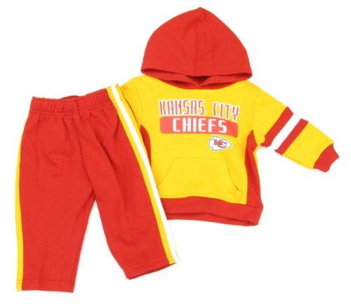 Outerstuff Kansas City Chiefs Baby/Toddler Fleece Hoodie & Pant Set (12 Months) at Amazon.com