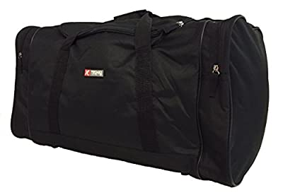 5Cities / Xtreme Large Travel Weekend Luggage Big Bag Shoulder Sports Gym Holdall L XL XXL Holdalls (60 L, Black)