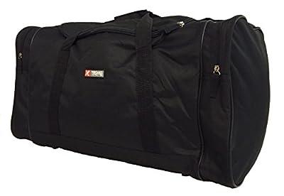 5Cities / Xtreme Large Travel Weekend Luggage Big Bag Shoulder Sports Gym Holdall L XL XXL Holdalls (60 L, Black)