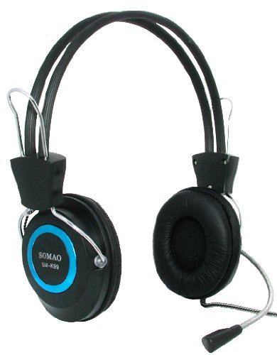 SM-K99 Stereo Skype Headphone Headset with Microphone and Volume Control for PC Desktop Laptop