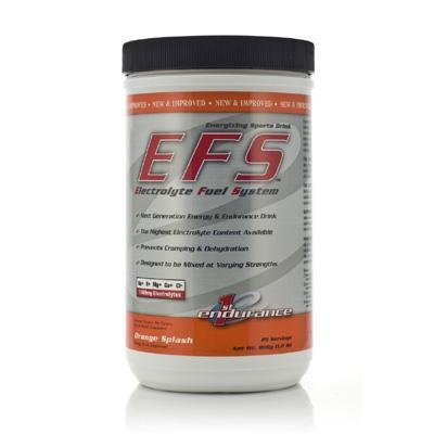 First Endurance Electrolyte Fuel System EFS Drink - 750g Canister (Orange Splash)